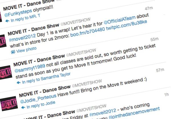 MOVE IT 2012 Tweets